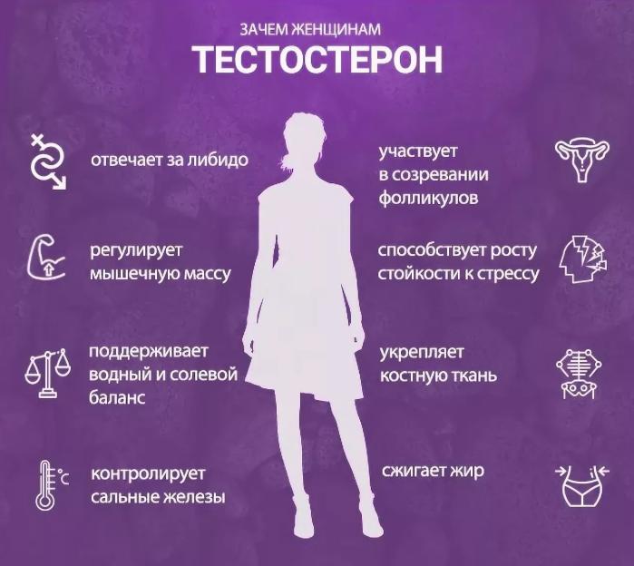Влияние тестостерона на женский организм